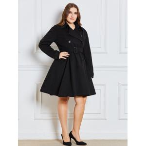 Double Breast Plus Size Long Dressy Manteau -