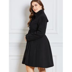 Double Breast  Plus Size Long Dressy Coat -