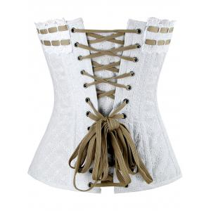 Steel Boned Lace-up Corset -