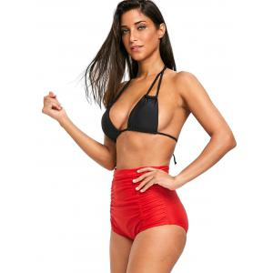High Waist Ruched Swim Bottom -