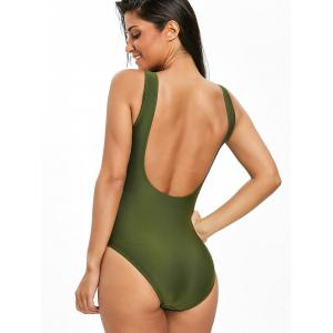 High Leg Low Back One Piece Swimsuit -