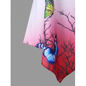 3D Butterfly Gradient Color Handkerchief Tank Top -