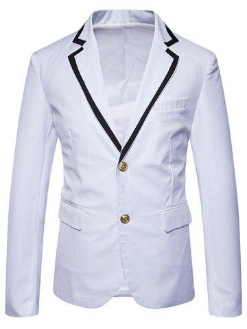 New Single Breasted Edging Lapel Collar Blazer