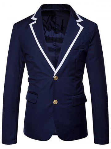 Best Single Breasted Edging Lapel Collar Blazer