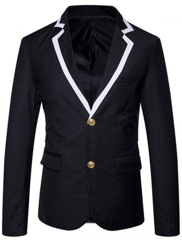 Shops Single Breasted Edging Lapel Collar Blazer