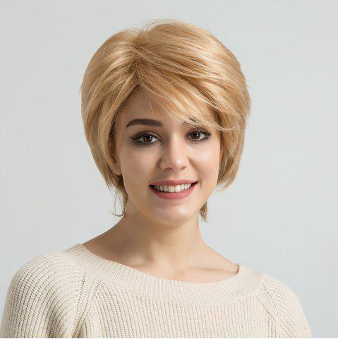Sale Short Side Bang Straight Human Hair Wig
