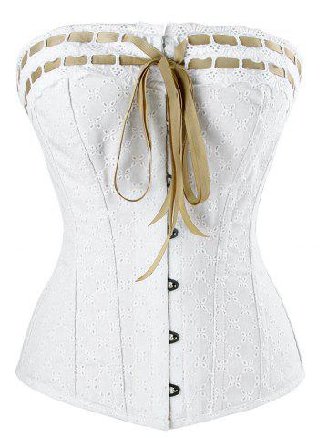 Discount Steel Boned Lace-up Corset