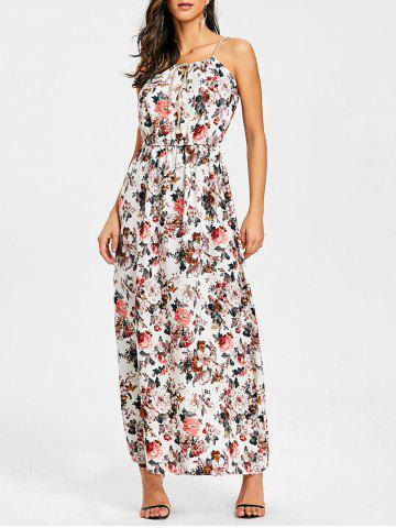 Affordable Bohemian Floral Print Maxi Dress
