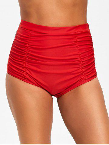 Shop High Waist Ruched Swim Bottom