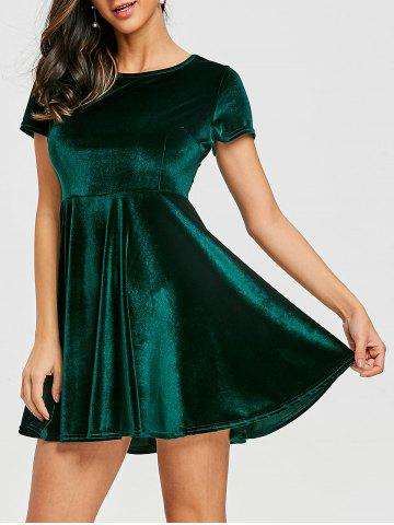 Cheap A Line Velvet Mini Dress