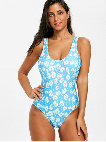 Backless High Leg One Piece Swimsuit