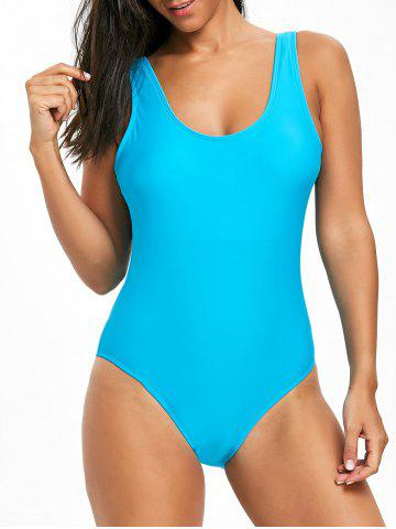 Trendy High Leg Low Back One Piece Swimsuit