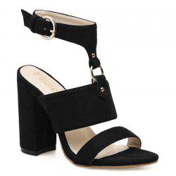 Buckled High Heel Sandals -