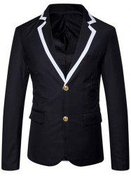 Single Breasted Edging Lapel Collar Blazer -