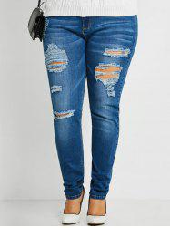 Distressed Plus Size Ripped Jeans -