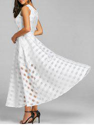 Sleeveless Fit and Flare Maxi Dress -