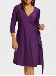 Tie Self Plus Size Jersey Dress -