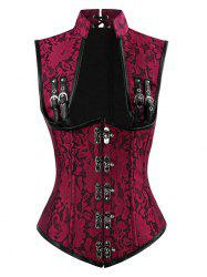 Brocade Steampunk Lace-up Corset Top -