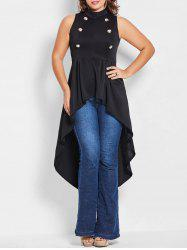 Gothic Plus Size Long High Low Top -