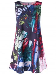 Print Mini Trapeze Dress -