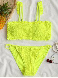 Strappy Ruffles Shirred Swimsuit -