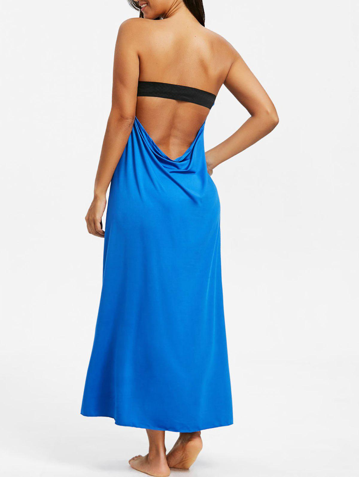 Shop Long Backless Bandeau Beach Dress
