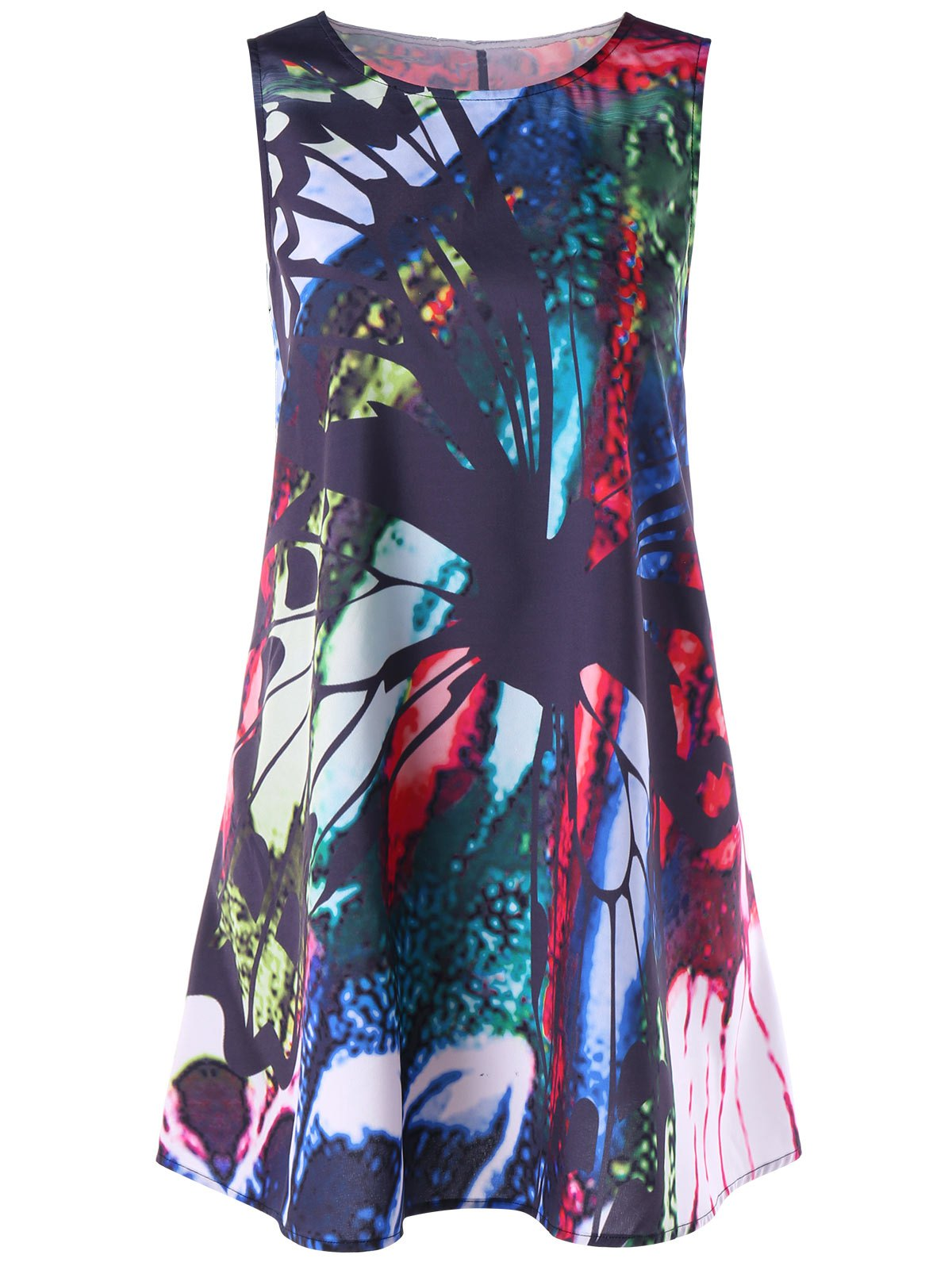 Online Print Mini Trapeze Dress