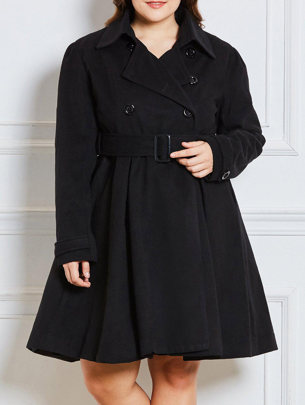 Buy Double Breast  Plus Size Long Dressy Coat