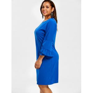 Bell Sleeve Drop épaule Plus Size Dress -