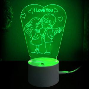 Love Kiss Colors Changing LED Night Light Decoration -