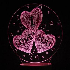 Mother's Day Letter Heart Colors Changing LED Night Light -