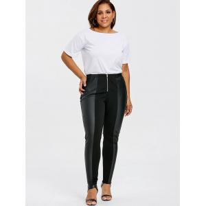 Plus Size Zip Front Fitted Pants -