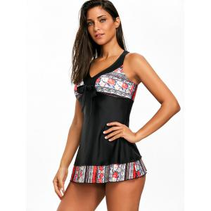 Criss Cross Floral Tankini Set -