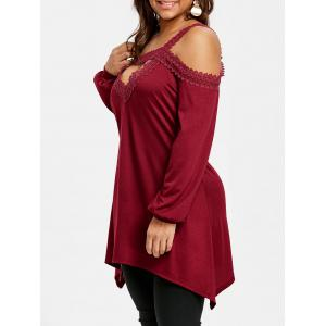 Плюс Размер Keyhole Open Shoulder Tunic Top -