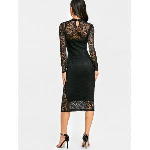 Lace Midi Evening Bodycon Dress -