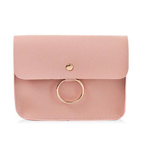 Outfits Faux Leather Flapped Crossbody Bag