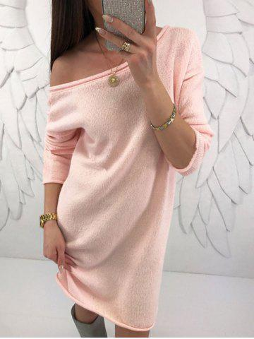 Fancy Off Shoulder Sweater Dress