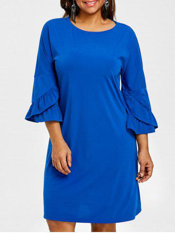 Bell Sleeve Drop épaule Plus Size Dress