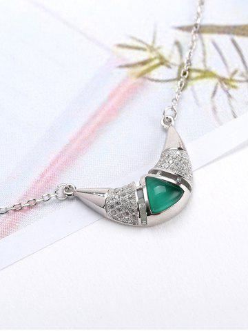 Valentine's Day Faux Emerald Pendant Necklace