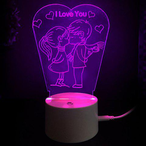 Love Kiss Colors Changing LED Night Light Decoration