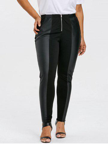 Chic Plus Size Zip Front Fitted Pants