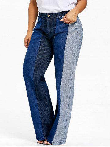 Online Plus Size Wide Leg Denim Pants