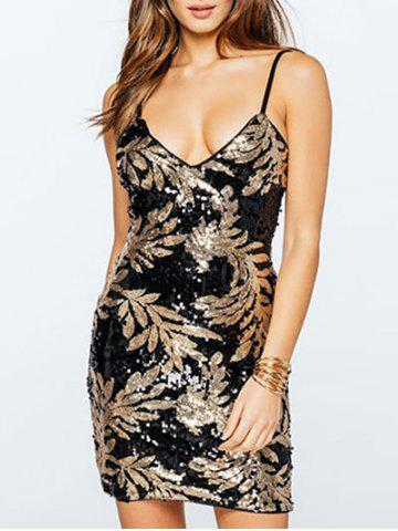 Fancy Sequins Spaghetti Strap Club Dress