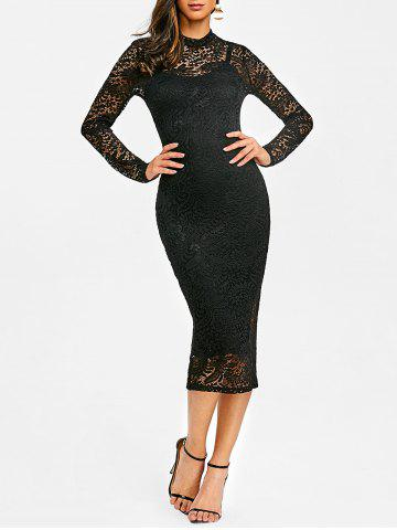New Lace Midi Evening Bodycon Dress