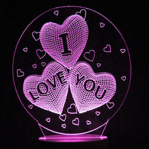 Mother's Day Letter Heart Colors Changing LED Night Light - TRANSPARENT