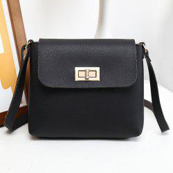 Minimalist PU Leather Flap Crossbody Bag -