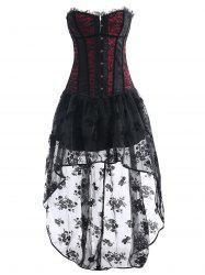 Vintage Asymmetric High Low Corset Dress -