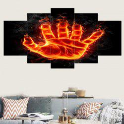 Flame Palm Printed Canvas Unframed Wall Art Printings -