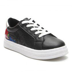 Floral Embroidery Skate Shoes -