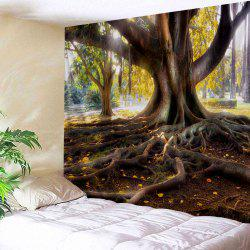 Wall Hanging Big Tree Roots Print Tapestry -